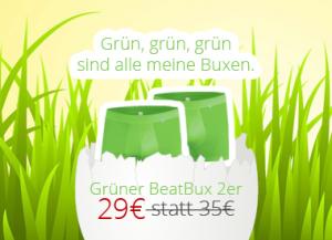Grüne Buxen jetzt zum Sonderpreis.